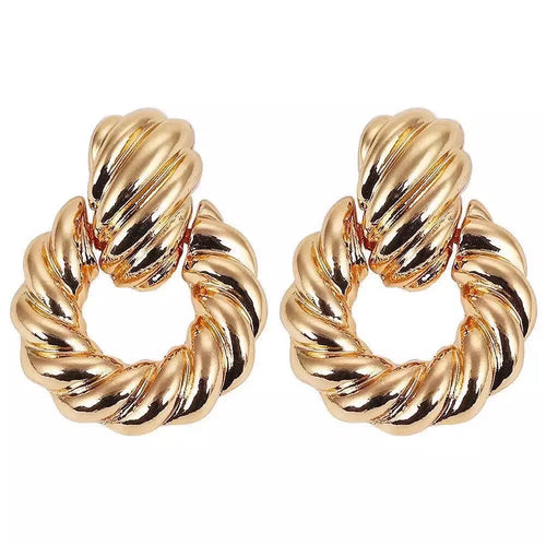 Megan Gold Hoop Earrings - Nicholls Jewellery