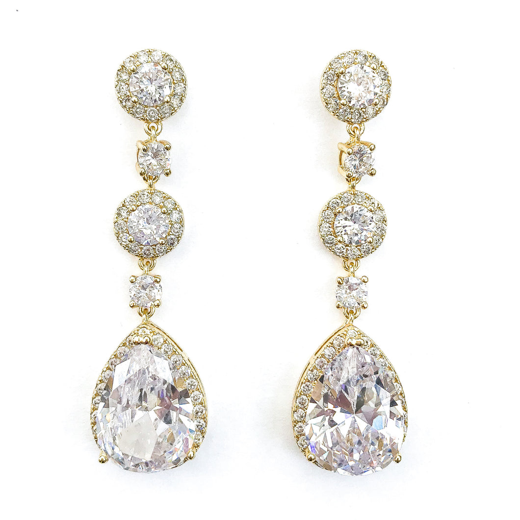 Grace Gold Earrings - Nicholls Jewellery