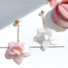 Load image into Gallery viewer, Francoise Pink Flower Earrings