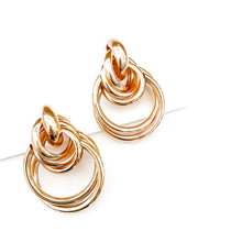 Load image into Gallery viewer, Trinity Gold Hoop Earrings