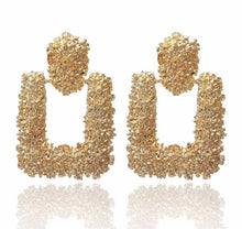 Load image into Gallery viewer, Luxe Square Gold Earrings - Nicholls Jewellery