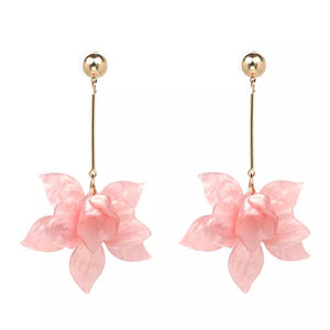 Francoise Pink Flower Earrings