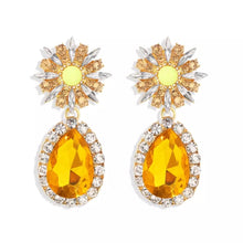 Load image into Gallery viewer, Polly Flower Yellow Earrings - Nicholls Jewellery