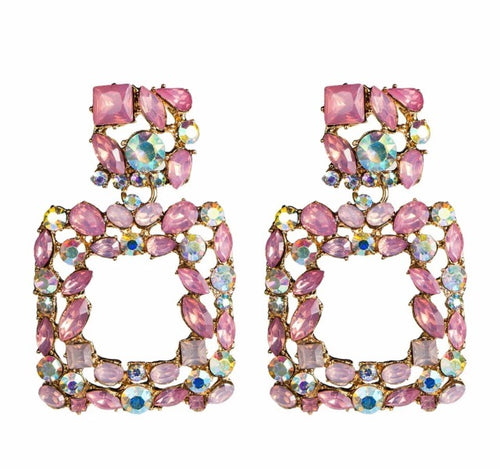Valencia Pink Earrings - Nicholls Jewellery