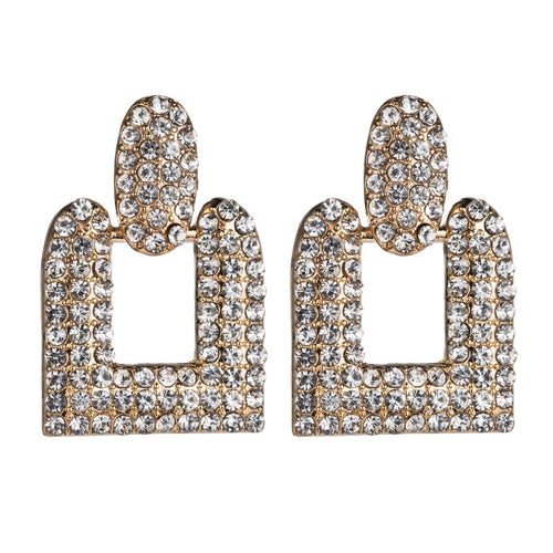 Luxe Crystal Square Earrings - Nicholls Jewellery