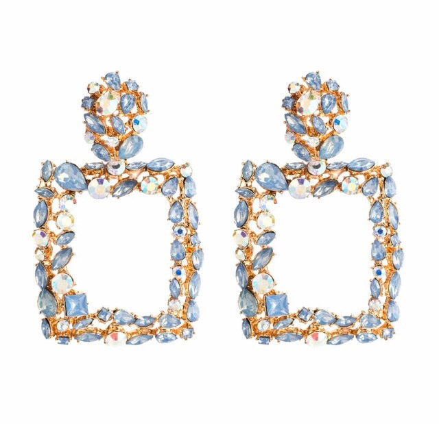 Venice Blue Crystal Earrings - Nicholls Jewellery