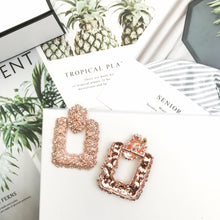 Load image into Gallery viewer, Luxe Rose Gold Square Earrings - Nicholls Jewellery