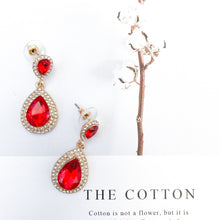 Load image into Gallery viewer, Royal Red Earrings