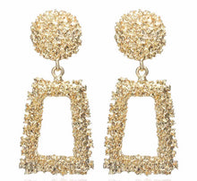 Load image into Gallery viewer, Luxe Gold Aztec Earrings - Nicholls Jewellery