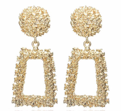 Luxe Gold Aztec Earrings - Nicholls Jewellery