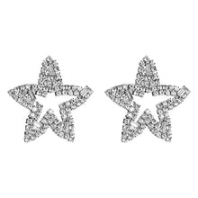 Load image into Gallery viewer, Silver Star Earrings - Nicholls Jewellery