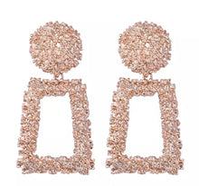 Load image into Gallery viewer, Luxe Rose Gold Aztec Earrings