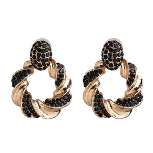 Diana Black Hoop Earrings - Nicholls Jewellery