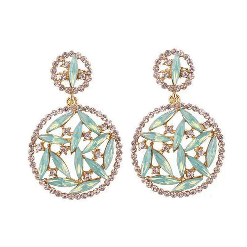 Fleck Mint Circle Earrings - Nicholls Jewellery