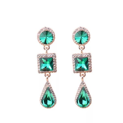 Reign Green Earrings - Nicholls Jewellery