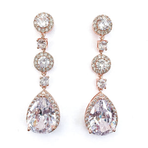 Grace Rose Gold Earrings - Nicholls Jewellery