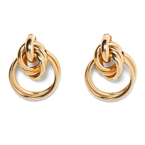 Trinity Gold Hoop Earrings - Nicholls Jewellery