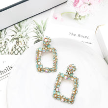 Load image into Gallery viewer, Venice Green Crystal Earrings - Nicholls Jewellery