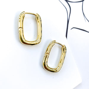 Solid Loop Gold Earrings