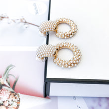Load image into Gallery viewer, Lacy Pearl Hoop Earrings - Nicholls Jewellery
