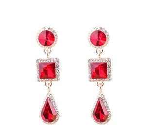 Reign Ruby Earrings