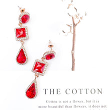 Load image into Gallery viewer, Reign Ruby Earrings