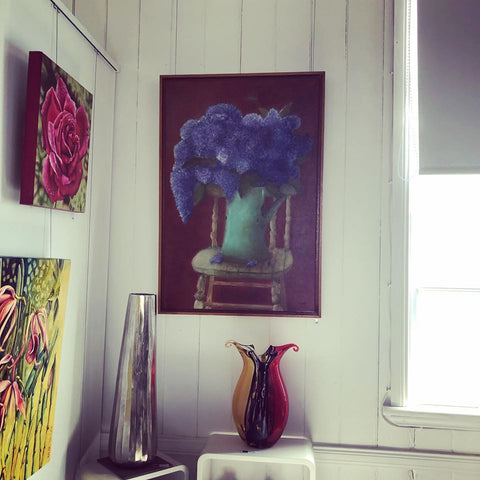 Hyacinths with Green Chair by Toni-Maree Savage