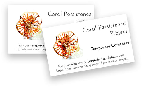 Coral Persistence Temporary Caretaker Cards