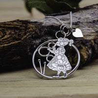 Blowing bubbles pendant