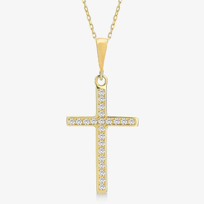 Zircon Cross Necklace - Gelin Diamond