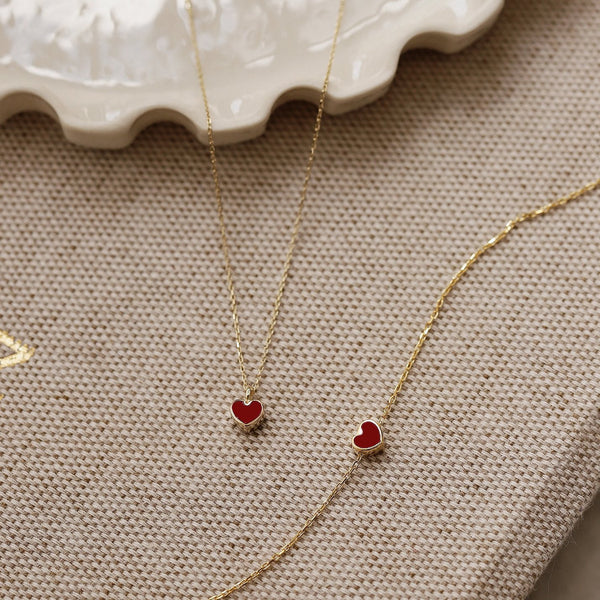 Red Heart Necklace - Gelin Diamond