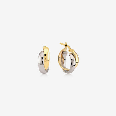 Double Color Ring Earrings - Gelin Diamond
