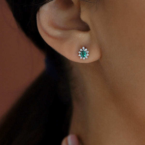 Emerald Earring - Gelin Diamond