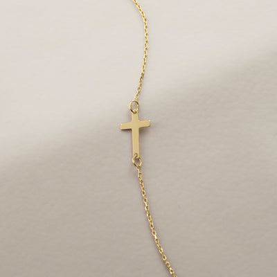 Horizontal Cross Bracelet - Gelin Diamond