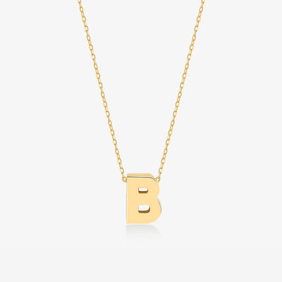 "Initial ""B"" Simple Necklace - Gelin Diamond"