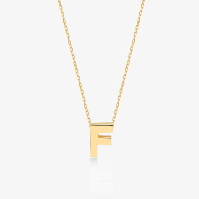 "Initial ""F"" Simple Necklace - Gelin Diamond"