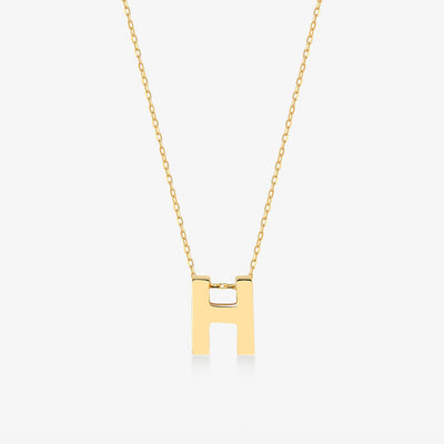 "Initial ""H"" Simple Necklace - Gelin Diamond"
