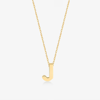 "Initial ""J"" Simple Necklace - Gelin Diamond"