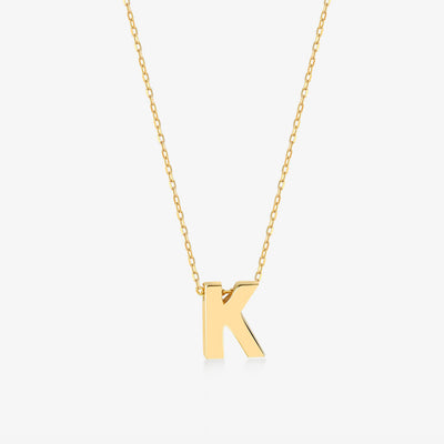 "Initial ""K"" Simple Necklace - Gelin Diamond"