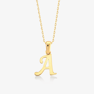 "Handwritten ""A"" Necklace - Gelin Diamond"
