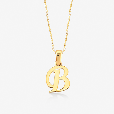 "Handwritten ""B"" Necklace - Gelin Diamond"