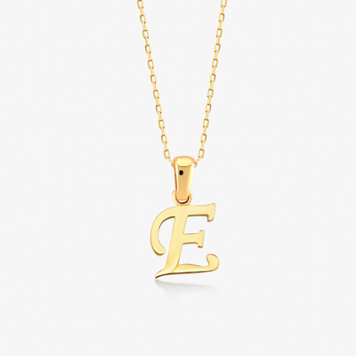 "Handwritten ""E"" Necklace - Gelin Diamond"