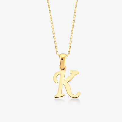 "Handwritten ""K"" Necklace - Gelin Diamond"