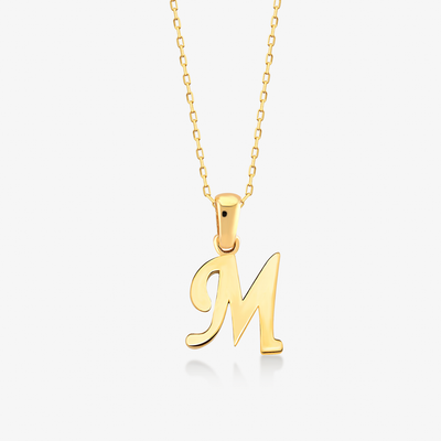 "Handwritten ""M"" Necklace - Gelin Diamond"