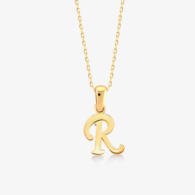 "Handwritten ""R"" Necklace - Gelin Diamond"