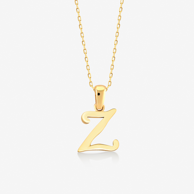 "Handwritten ""Z"" Necklace - Gelin Diamond"