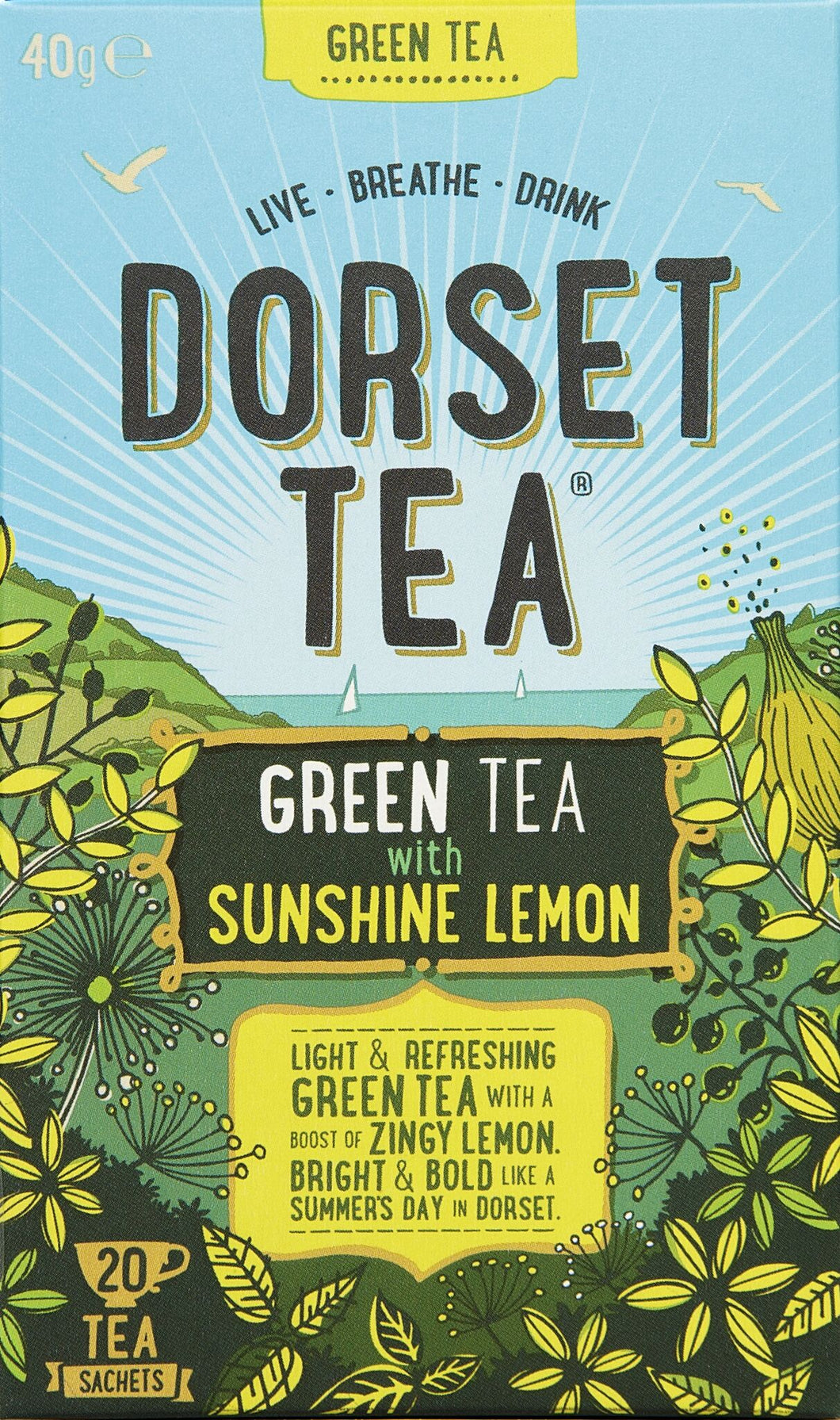 Green Tea and Sunshine Lemon 20 Tea Bags