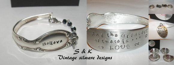 custom stamped silverware jewelry