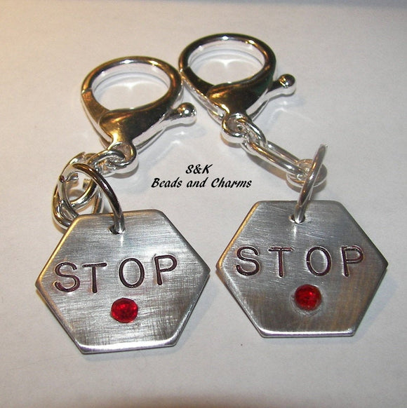 personalized stop the madness key ring clip, hand stamped jewelry, key ring , purse clip, awareness charm, engraved jewelry