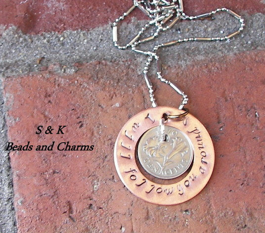 Vintage coin jewelry, custom personalized and stamped jewelry, uniqe coin jewelry handstamped jewelry